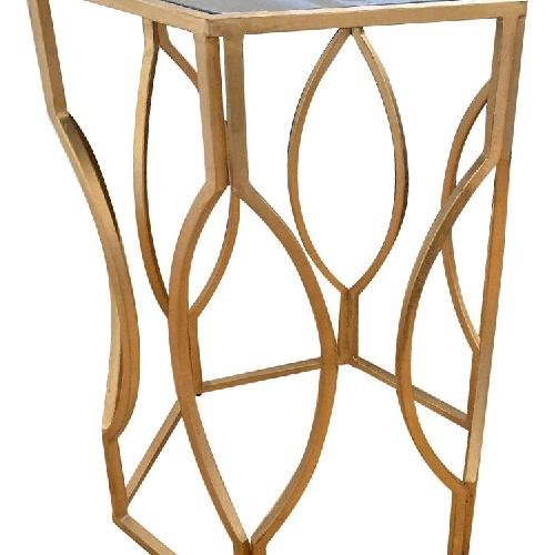 Used Brass Mirrored Accent Table for sale on AptDeco