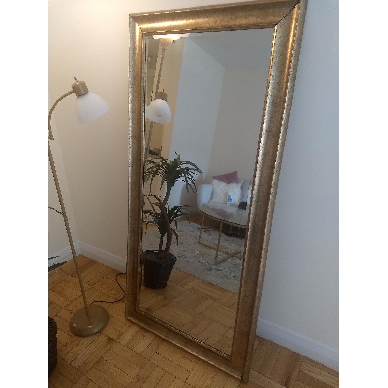 Full Length Mirror W Antique Gold Frame Aptdeco