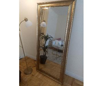 Full Length Mirror w/ Antique Gold Frame