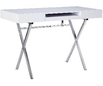 Kings Brand Furniture Contemporary Desk in Chrome Finish