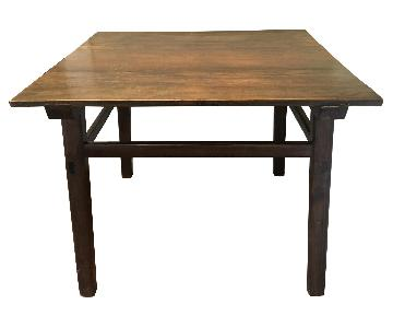 Antique Rustic Solid Wood Farmhouse Table