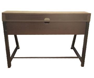 Brown Metal & Wood Desk
