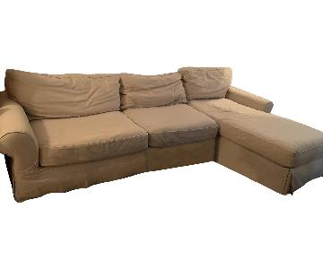 Restoration Hardware Grand Scale Roll Arm Sectional Sofa
