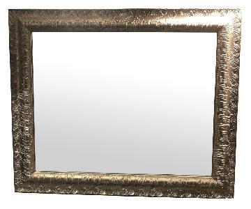 Carved Wood Scroll Framed Mirror