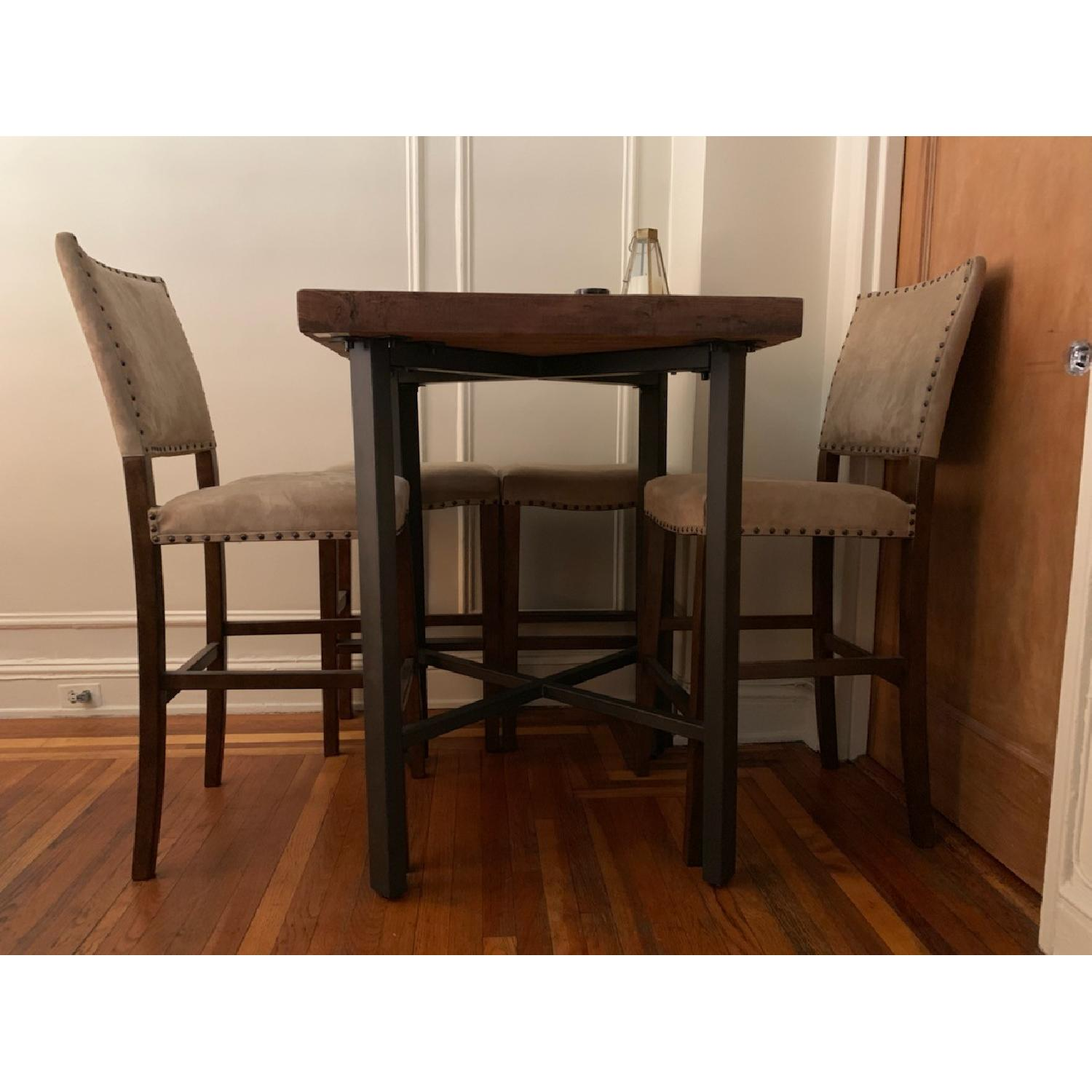 Pottery Barn Griffin Reclaimed Wood Table W 4 Chairs Aptdeco