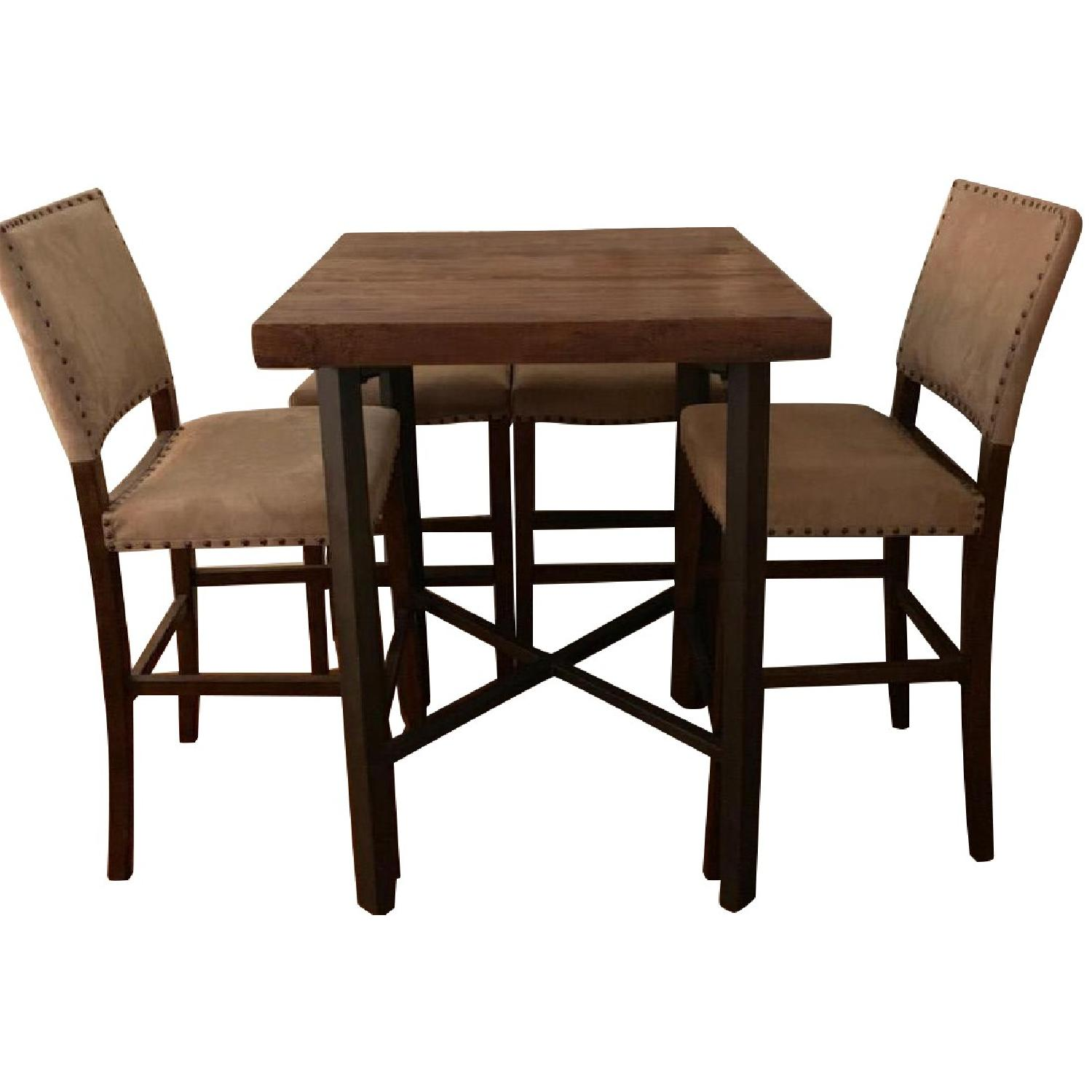 Pottery Barn Griffin Reclaimed Wood Table w/ 4 Chairs