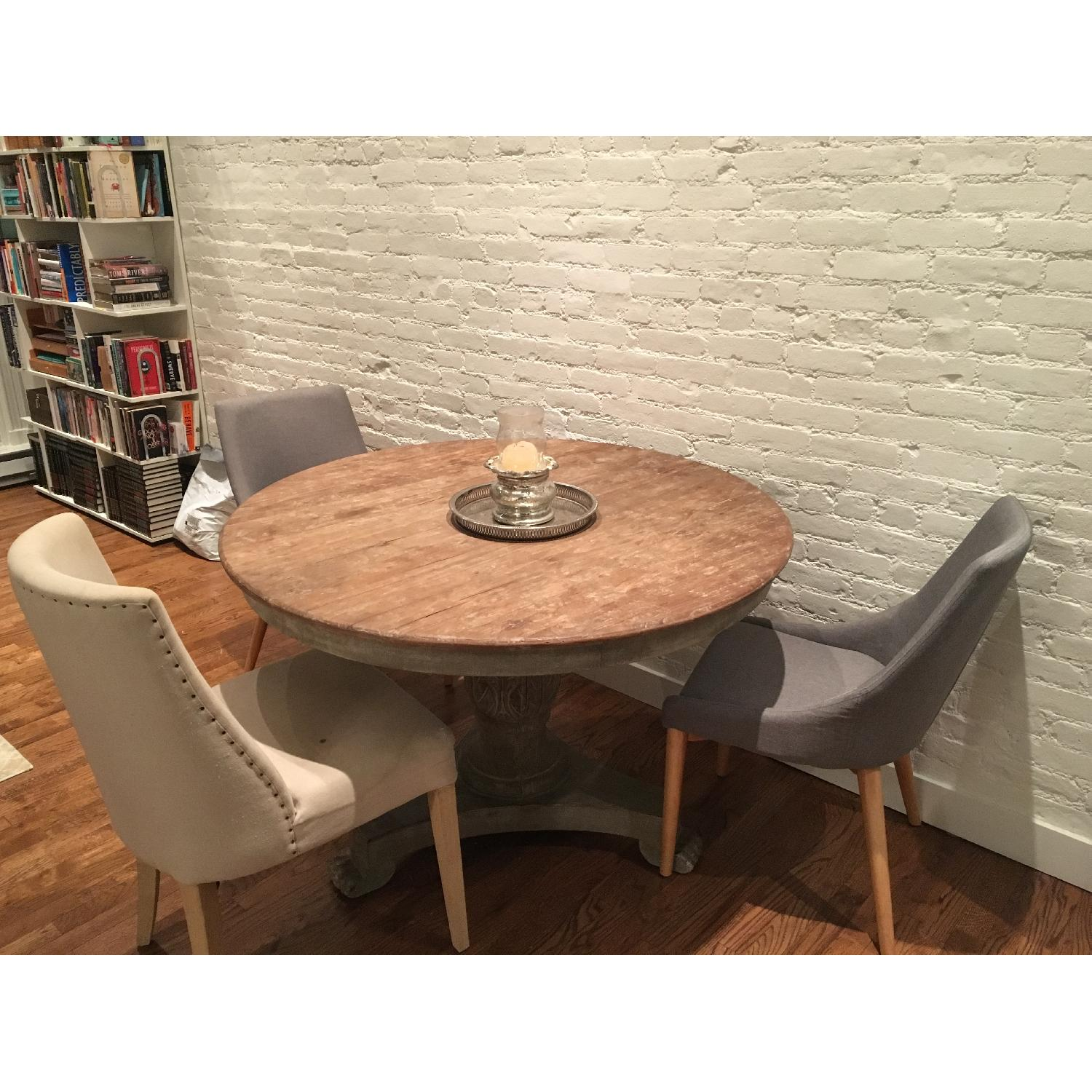 Abc Carpet And Home Round Natural Wood Finish Dining Aptdeco