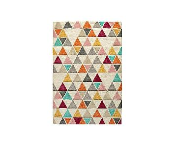 Crate & Barrel Land of Nod Triangle Wool Rug + Rug Pad