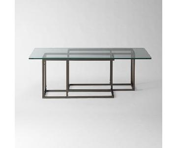 West Elm Tempered Glass Coffee Table