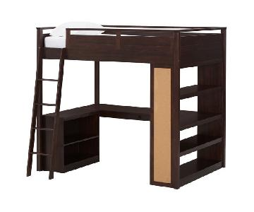 Pottery Barn Teen Sleep & Study Loft in Dark Espresso