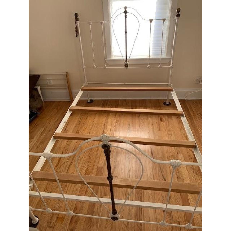 Antique Wrought Iron Full Size Bed Aptdeco
