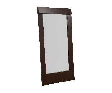 Crate & Barrel Colby Bronze Floor Mirror