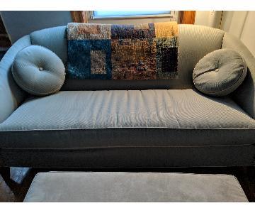 Ethan Allen Vintage Seafoam Green Sofa