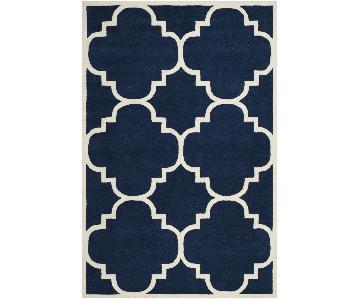 Safavieh Dark Blue/Ivory Wool Area Rug