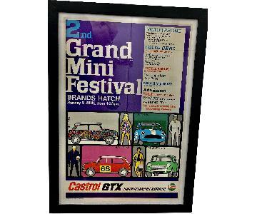 Vintage 1968 Grand Mini Festival Car Show Poster