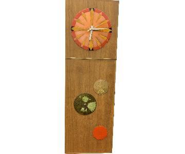 Vintage 1960s Arthur Umanoff Style Wall Clock
