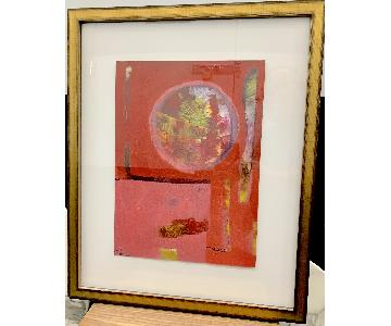 Contemporary Orb Abstract Oil Painting