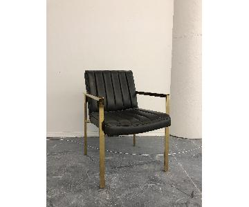 Modshop Leather & Brass Dining Chairs