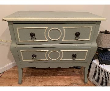 Home Goods Shabby Chic Pale Green Accent Chest