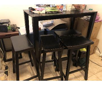 Crate & Barrel High Top Table w/ 4 Stools