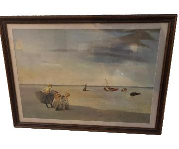 Framed Dali Acrylic Painting XL Replica