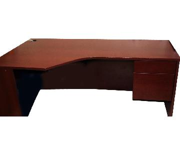 2-Piece Office Wooden Table