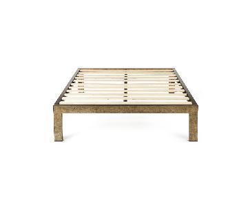 Keetsa Gold Brushed Steel Full Bed Frame