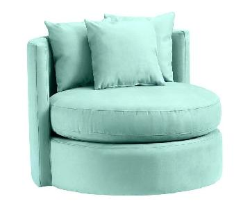 Pottery Barn Teen Round-About Swivel Chair in Tiffany Blue