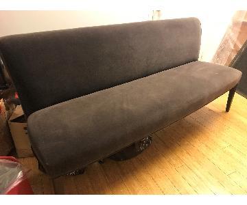 Williams Sonoma Custom Brown Sofa