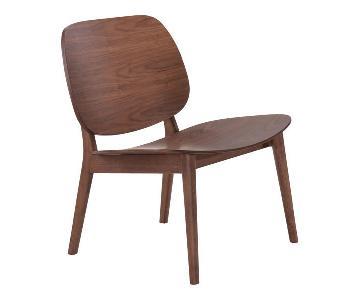 Manhattan Home Design Priest Lounge Chair in Walnut