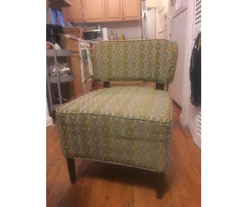 Pier 1 Green/Blue Patterned Accent Chair