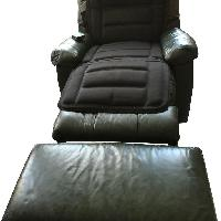 Action Industries Lakeview Leather Recliner & Ottoman
