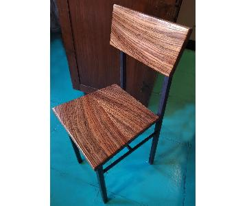 Solid Zebra Wood Dining Chairs