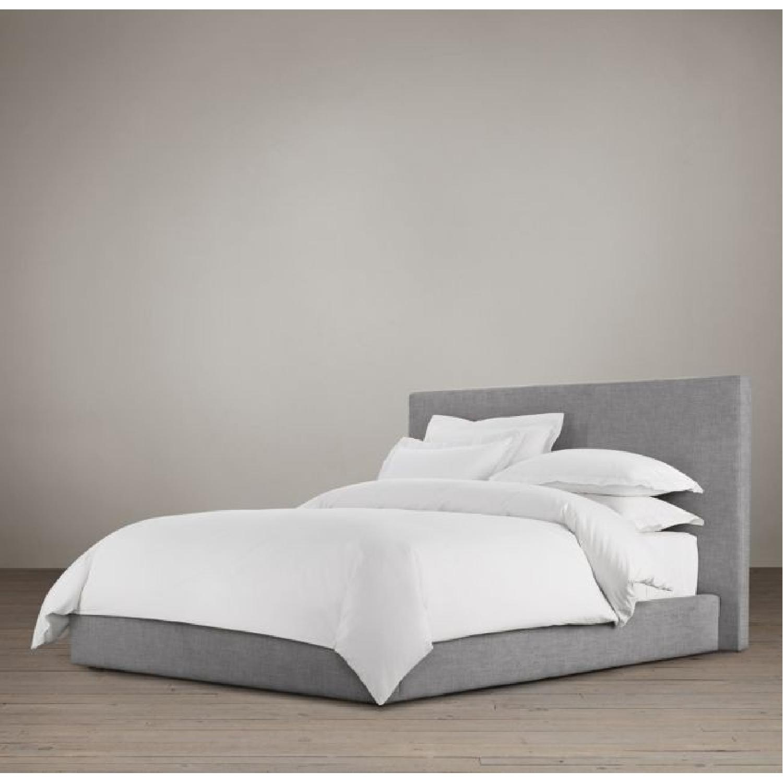 Restoration Hardware Sullivan Fabric Platform King Bed