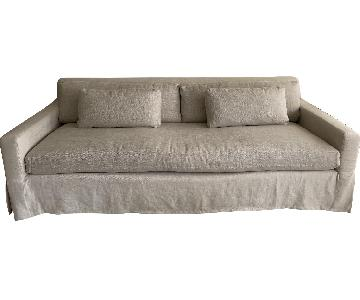 Restoration Hardware Belgian Track Arm Sleeper Sofa