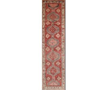 Vintage Ardebil Persian Hand-Knotted Wool Rug Runner