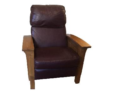 Chilton Furniture Reddish Brown Mission Recliner