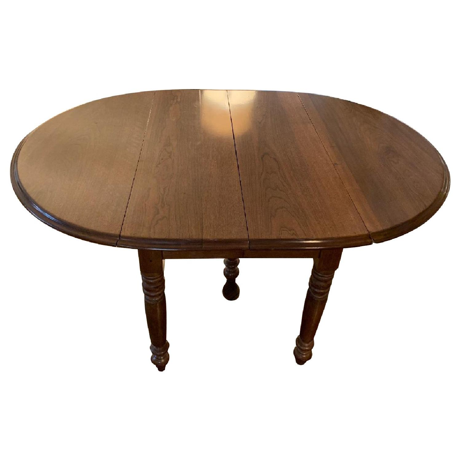 19th Century Oak Drop Leaf Expandable Dining Table