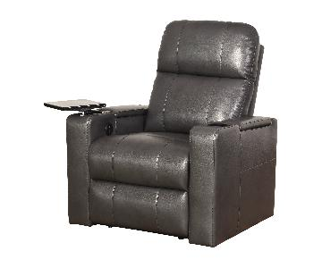 Grey Recliner Chair w/ USB/Power Outlet