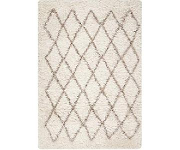 Surya Rhapsody Winter White Diamond Print Wool Rug
