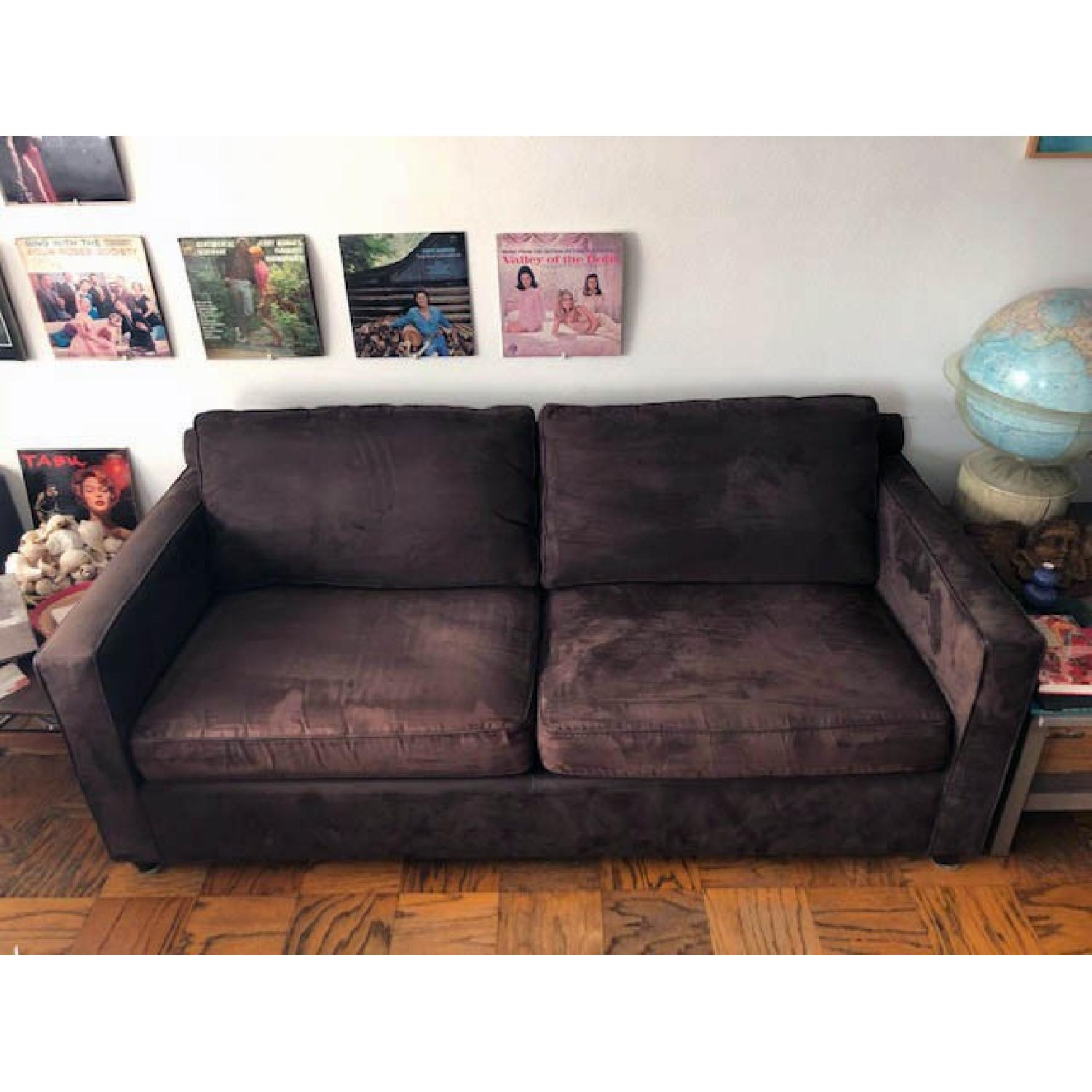 Crate & Barrel Barrett Sofa & Matching Armchair - image-1
