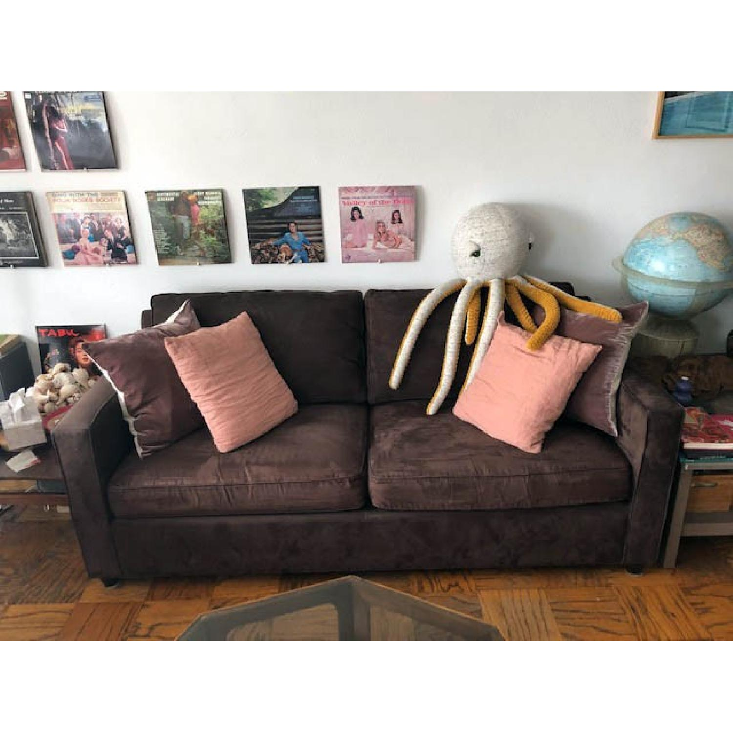 Crate & Barrel Barrett Sofa & Matching Armchair - image-3