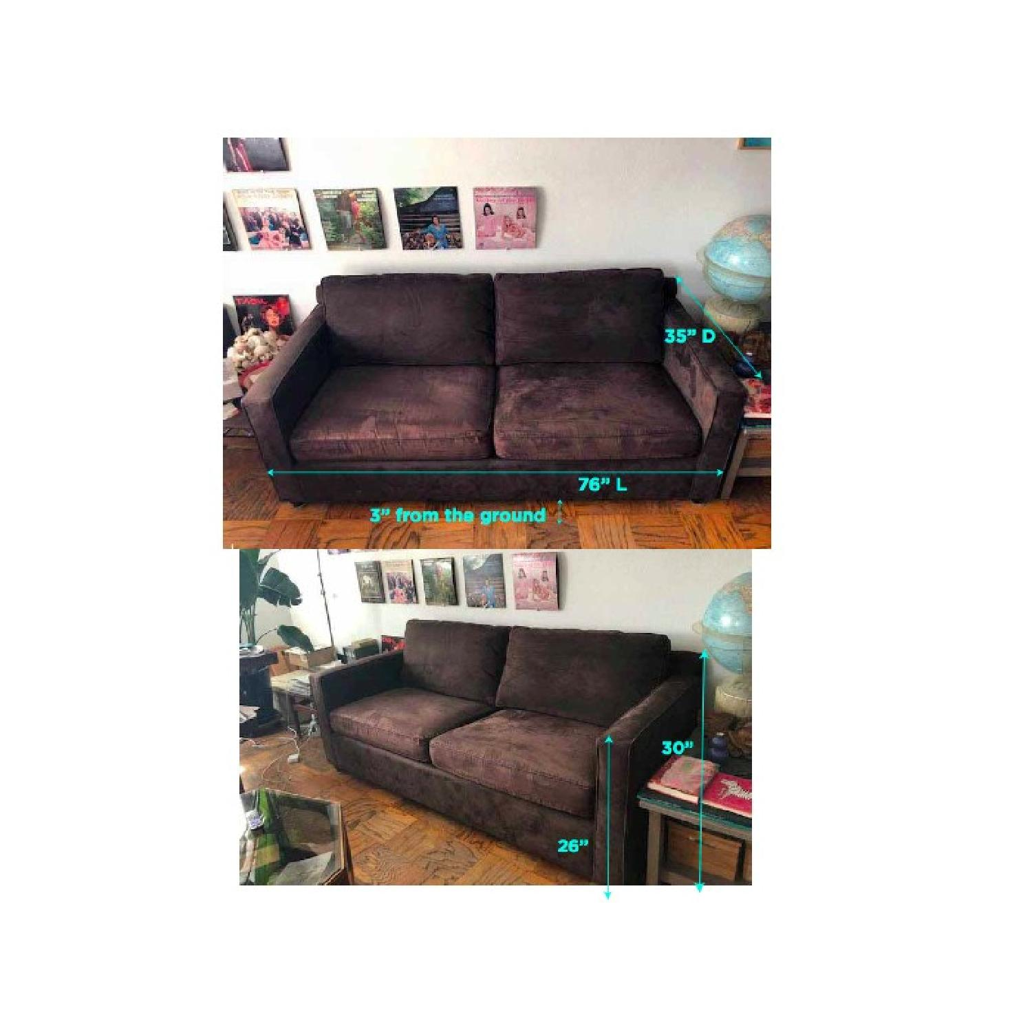 Crate & Barrel Barrett Sofa & Matching Armchair - image-8