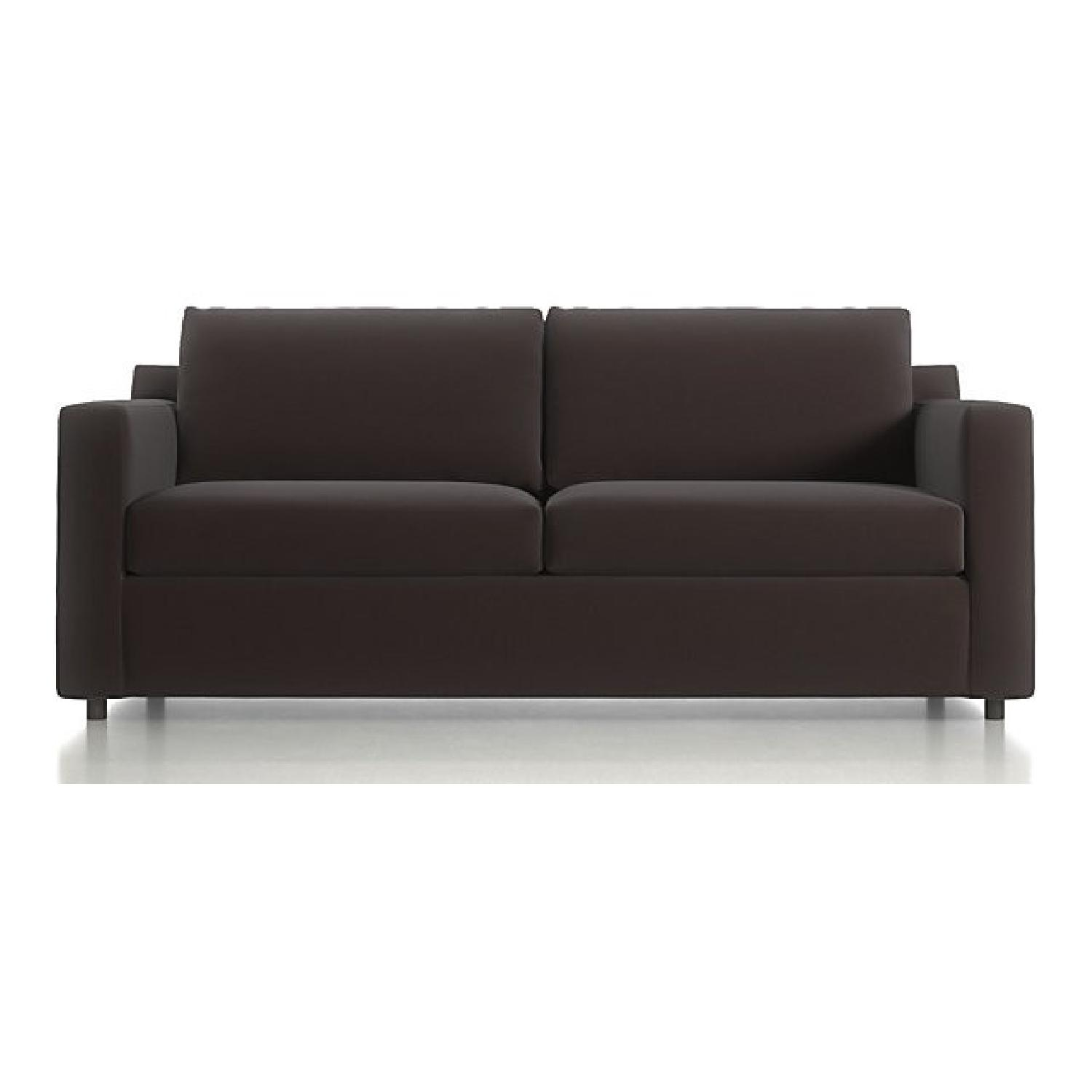 Crate & Barrel Barrett Sofa & Matching Armchair - image-0
