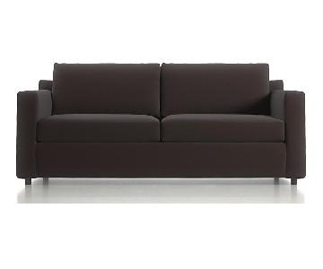 Crate & Barrel Barrett Sofa & Matching Armchair