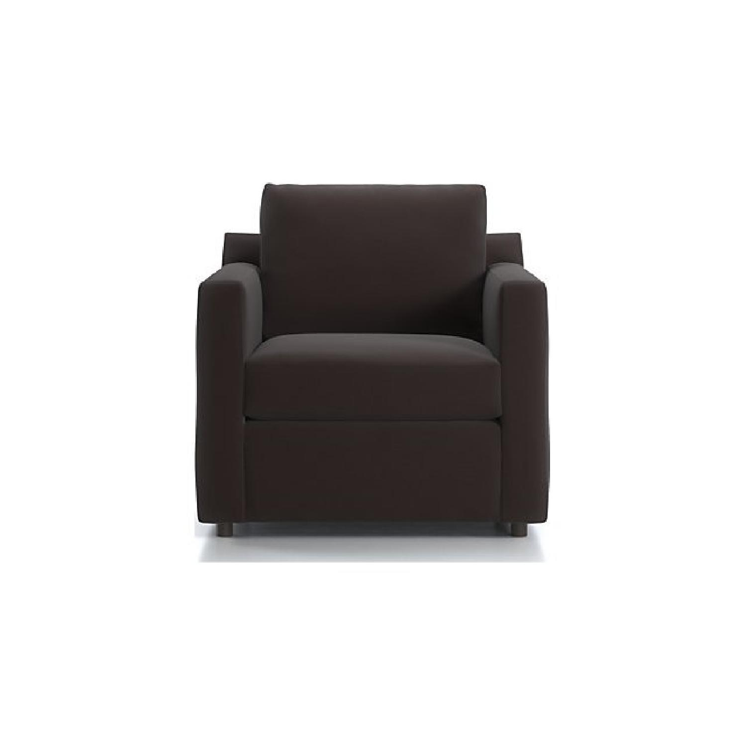 Crate & Barrel Barrett Sofa & Matching Armchair - image-10