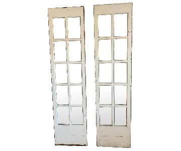Antique White Tall French Window Panels