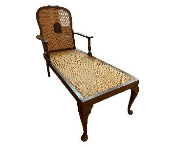 Antique Woven Lounge Chair
