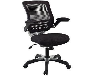 Manhattan Home Design Edge Mesh Office Chair in Black