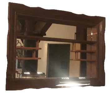 Antique Decorative Wall Mirror w/ Shelves